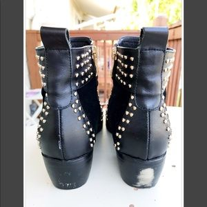 Shoes - NO NAME BRAND BLACK LEATHER & SUEDE BOOTIES 7.5